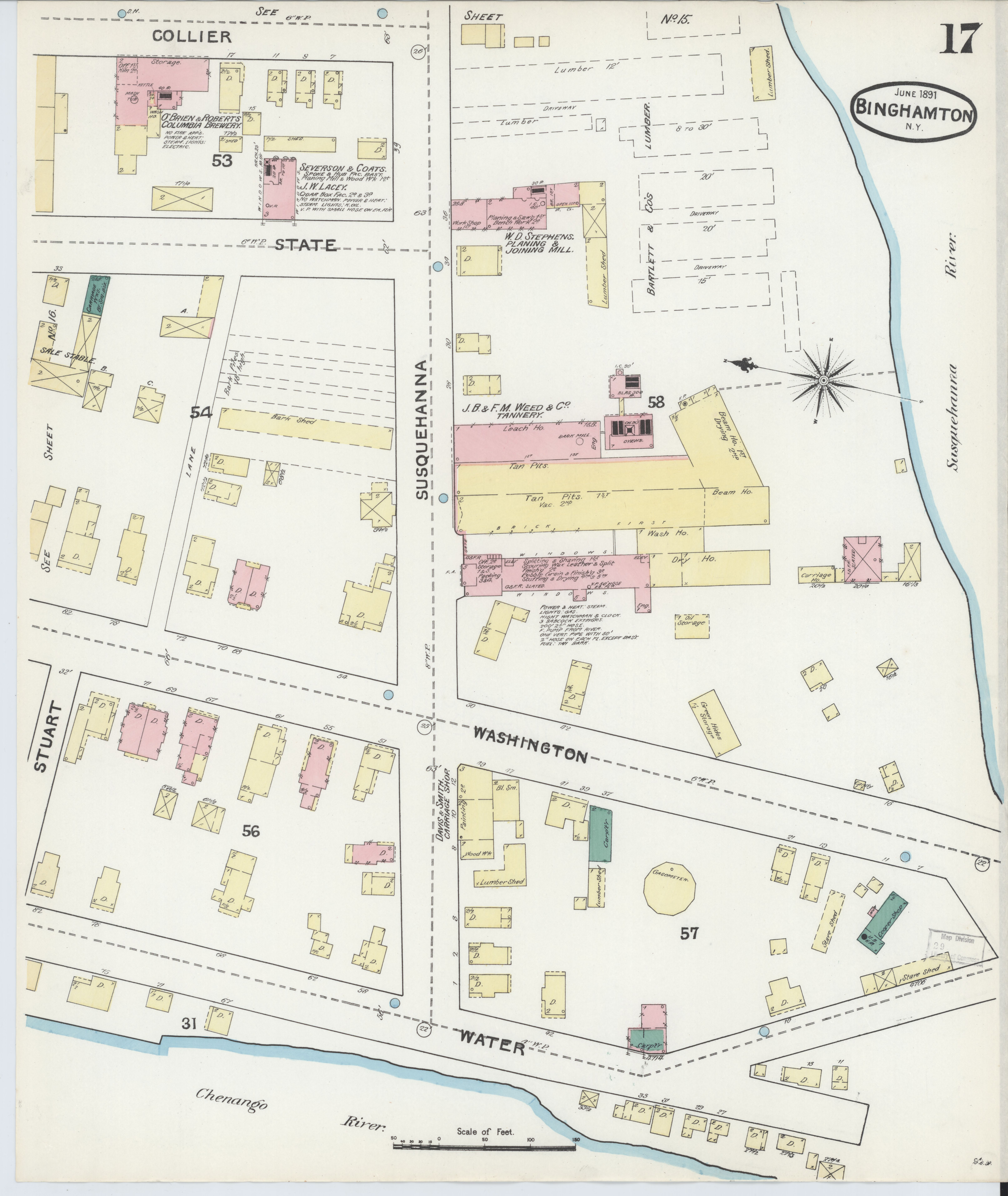 File:Sanborn Fire Insurance Map from Binghamton, Broome County, New ...