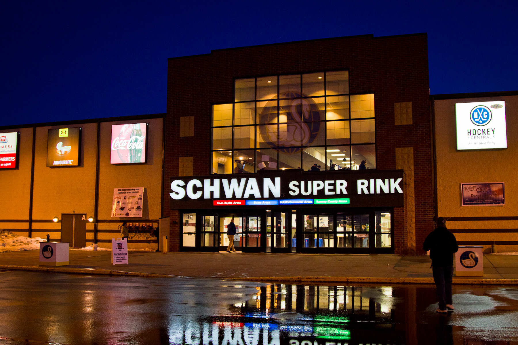 Schwan super rink wikiwand for Garage doors blaine mn