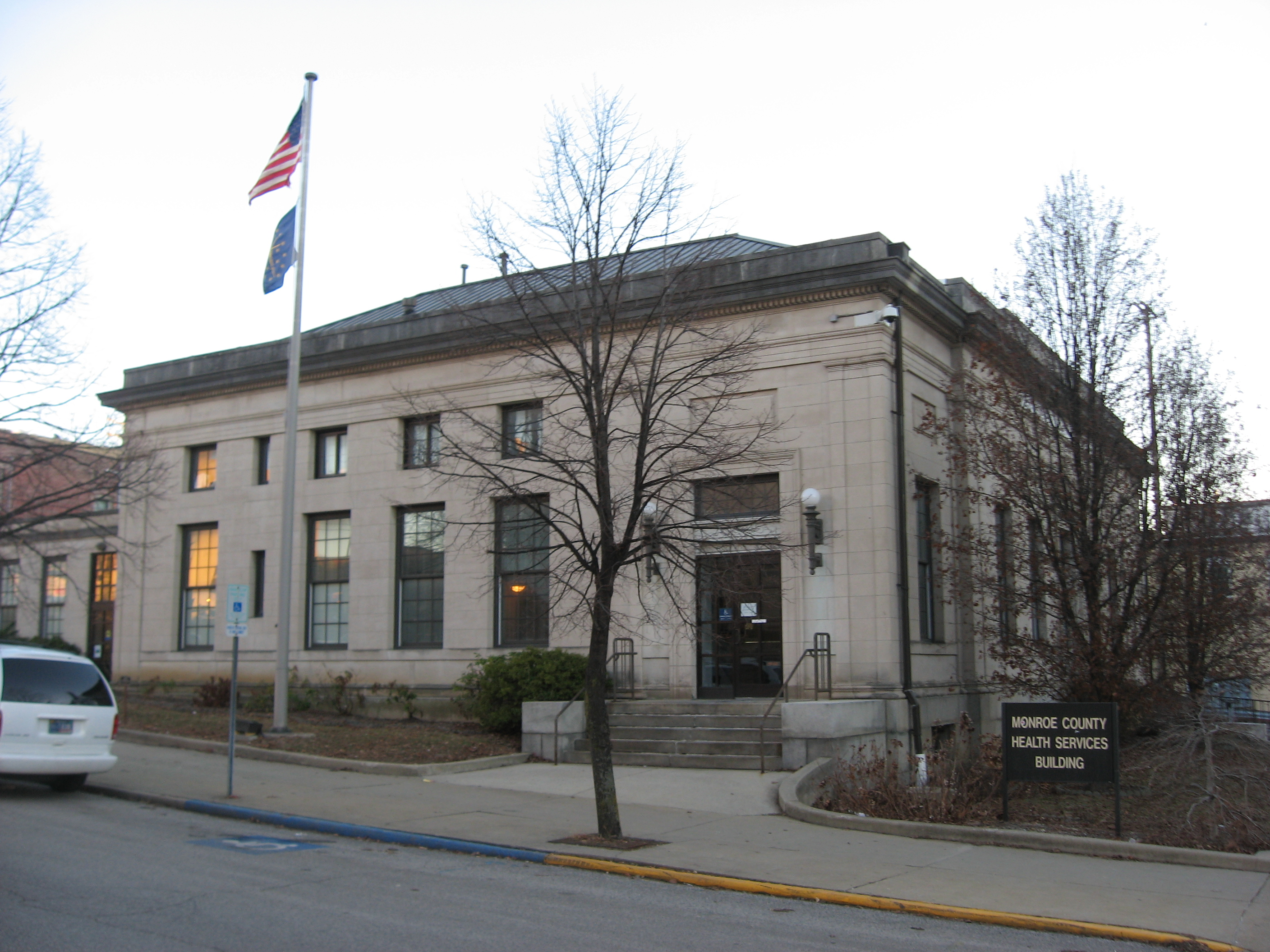File seventh street west 119 old post office bloomington courthouse square - Post office working today ...