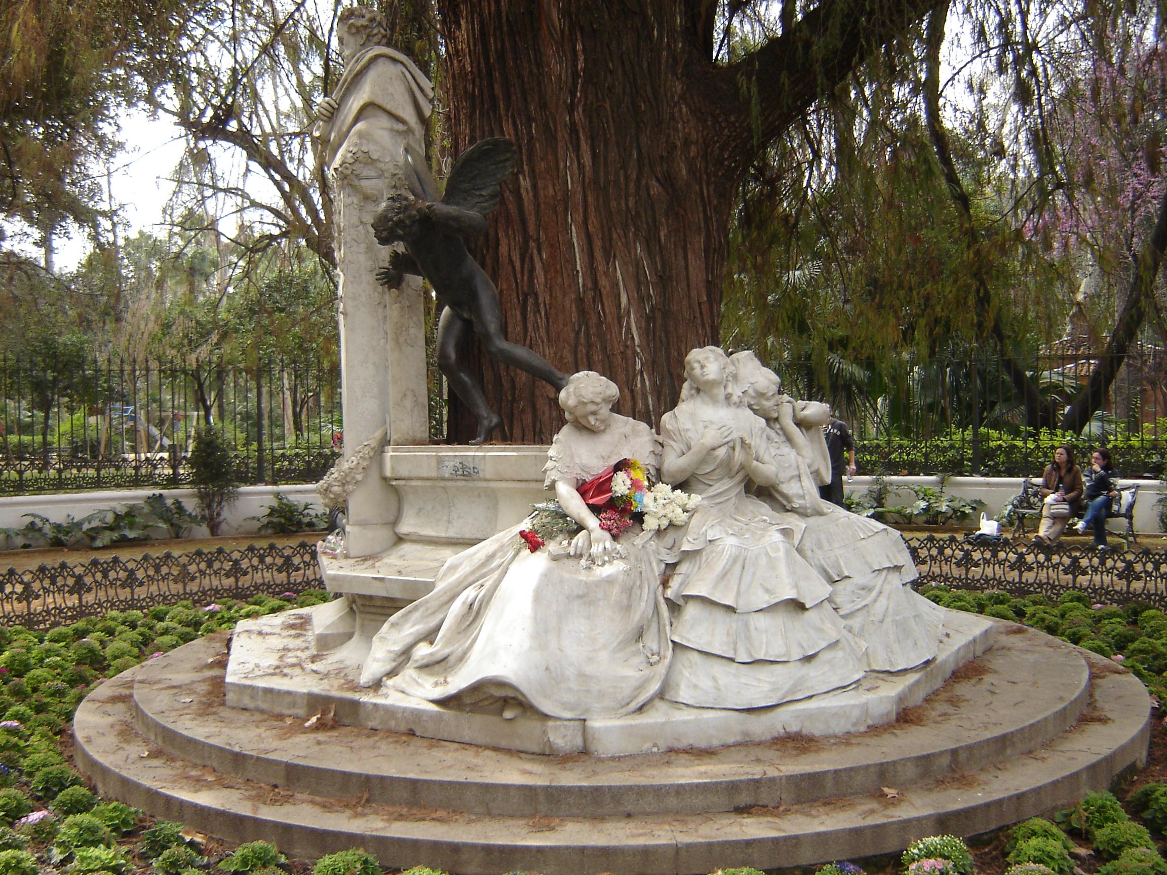 File sevillaglorietadebecquer04 jpg wikimedia commons for Statue en resine pour jardin