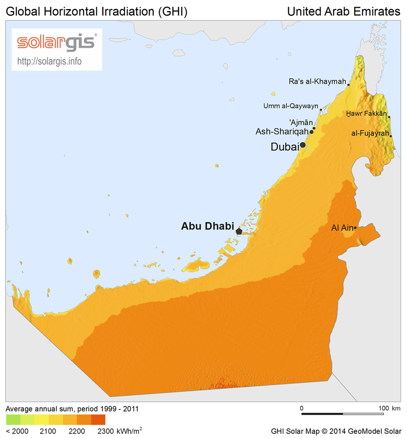 Solar Power In The United Arab Emirates Wikipedia