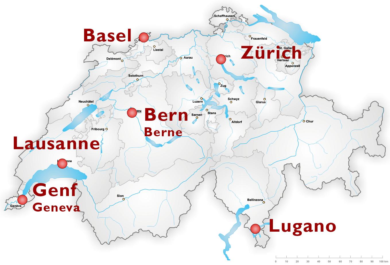 Austragungsorte der WM 1954