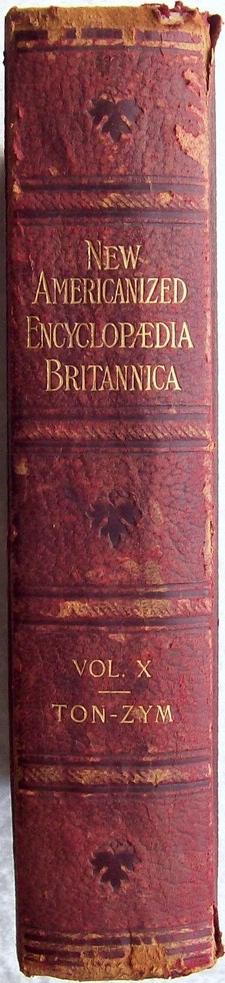 Spine of the Americanized Encylopedia Britannica