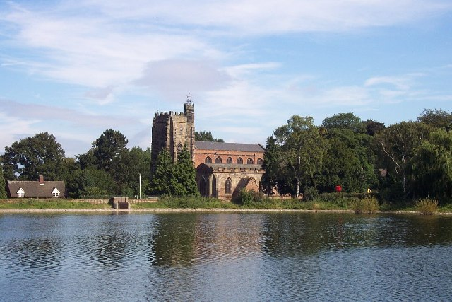 St. Chad's Church and Stowe Pool - geograph.org.uk - 121236