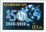 150th anniversary commemorative stamp from Azerbaijan, 2015