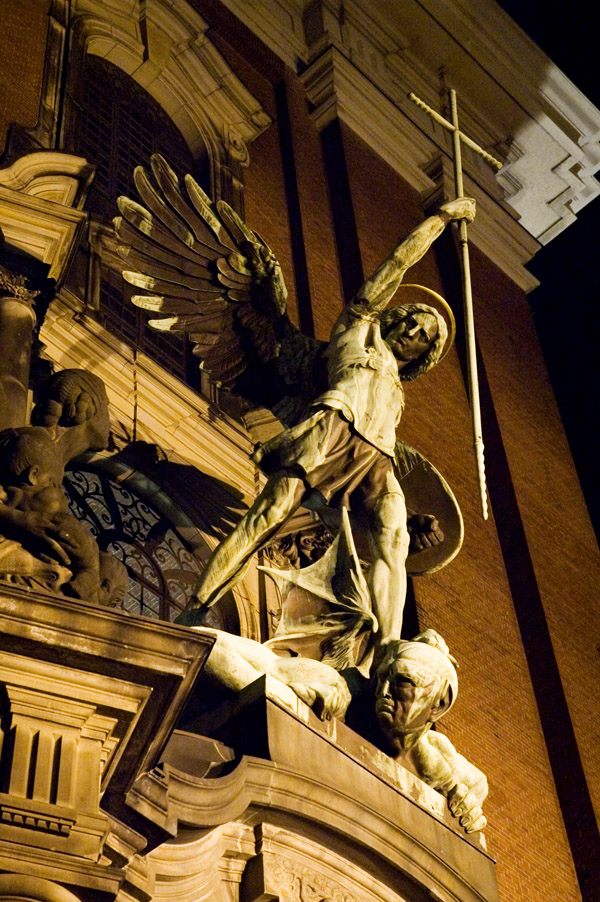 Statue of Archangel Michael by August Vogel ab...