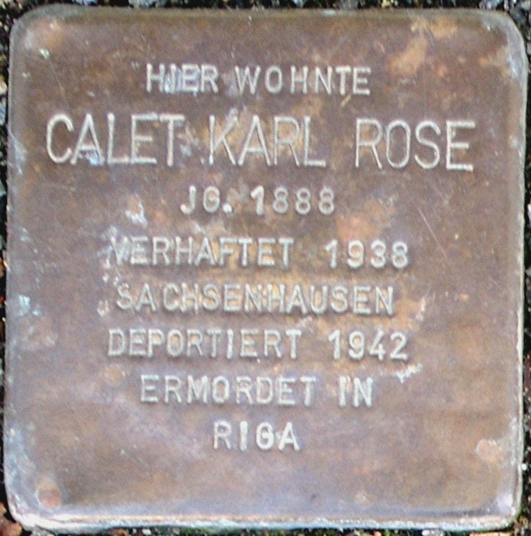 Stolperstein Rose, Calet Karl.jpg