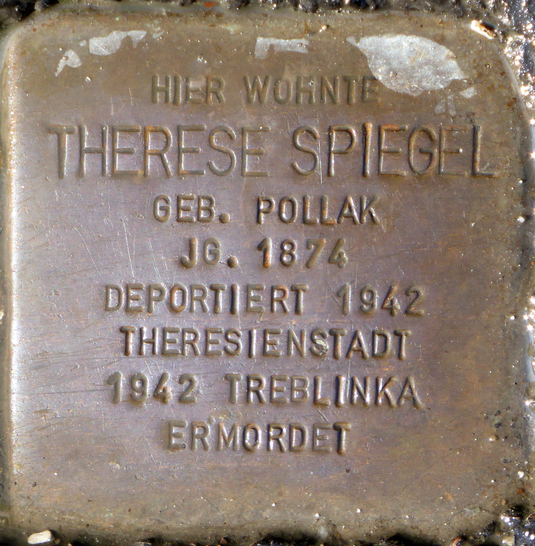 File stolperstein salzburg therese spiegel faberstra e for Spiegel history
