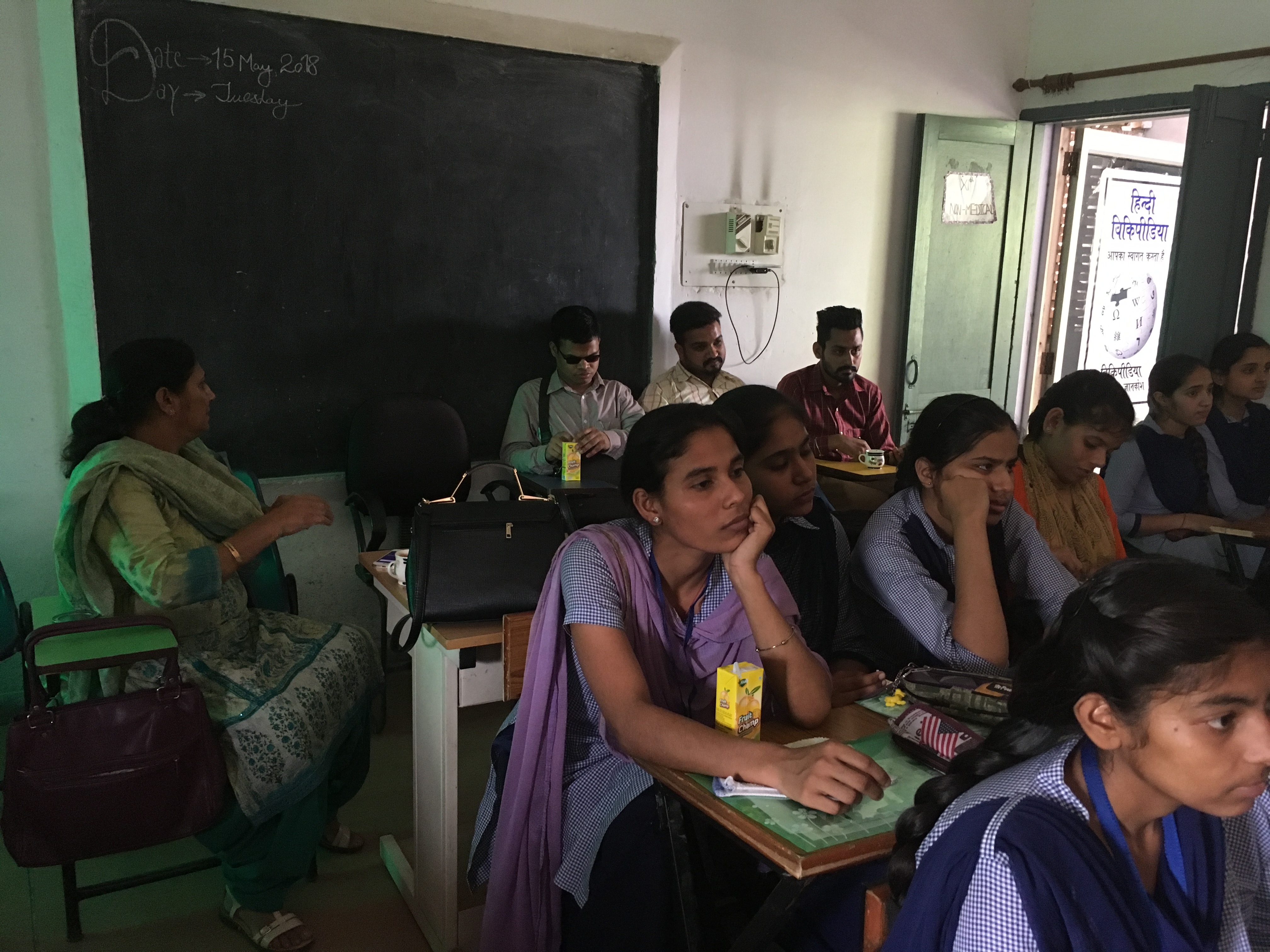 File Students During Wiki Awareness Campaign Karnal 05 Jpg