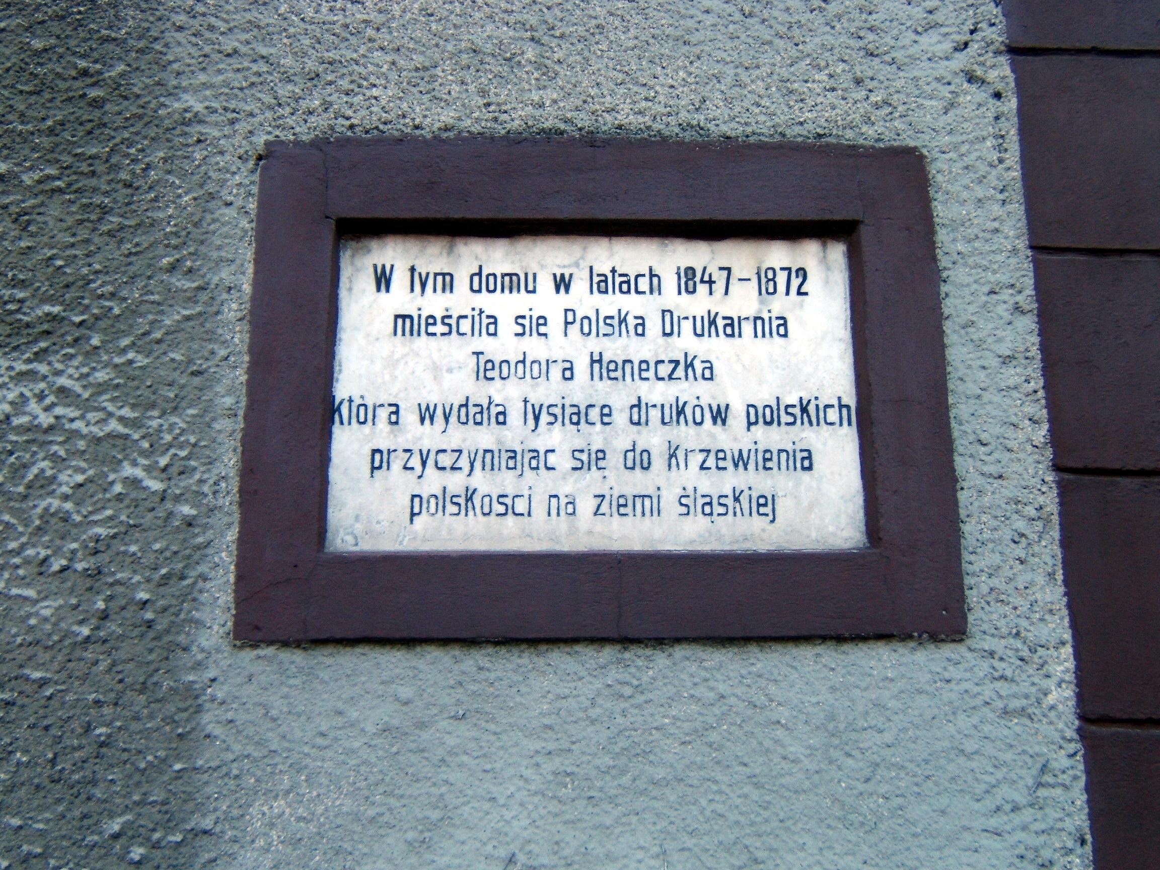 Teodor Heneczek śląski drukarz