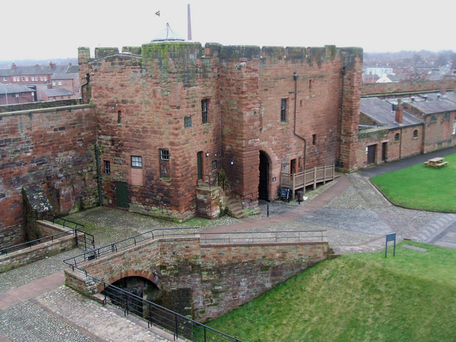 File the outer gate house seen from the keep carlisle for The carlisle house
