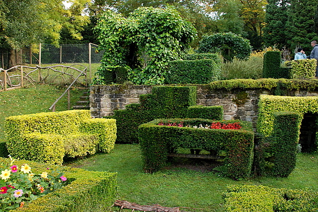 Topiary in Chatsworth garden - geograph.org.uk - 587710