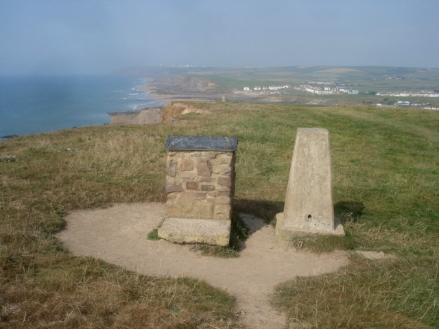 Trig point at Efford Beacon - geograph.org.uk - 563734