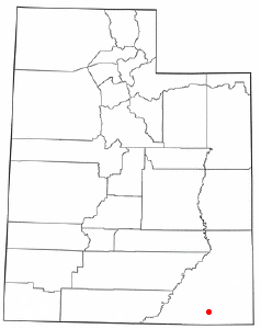 Location of Halchita, Utah