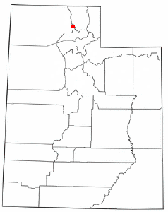 Location of Mantua, Utah