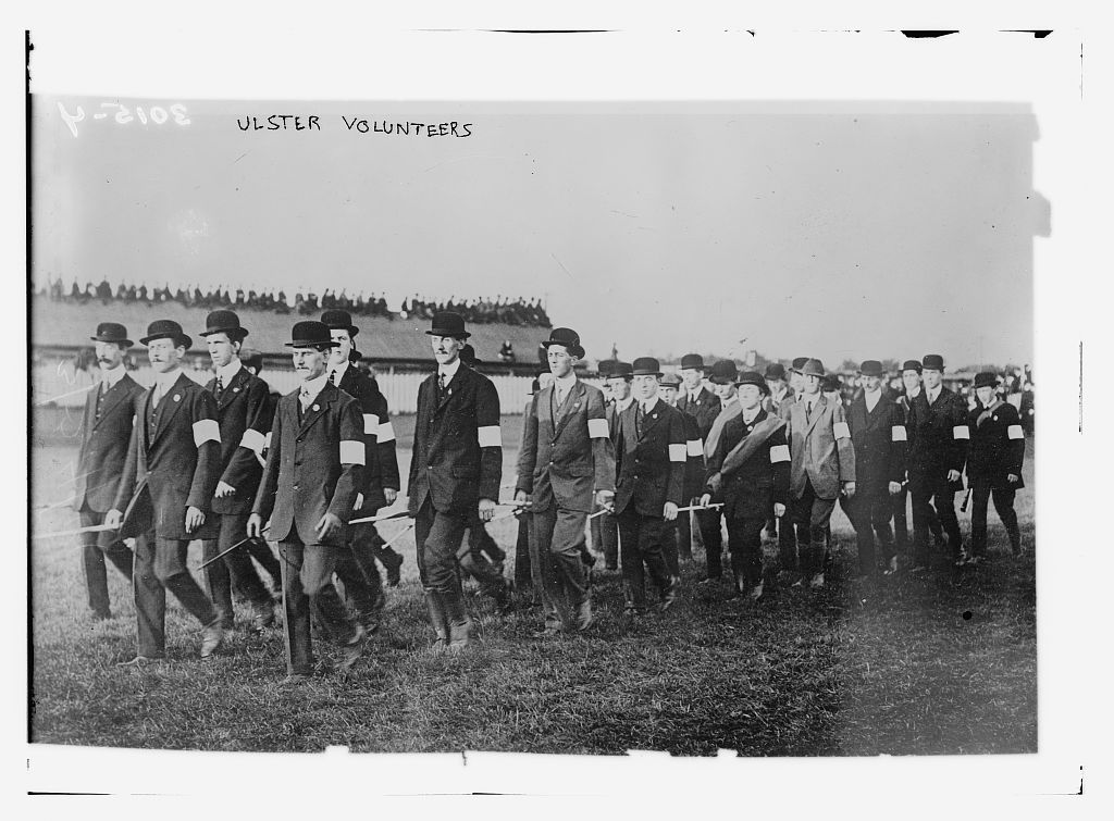 Ulster Volunteers in 1914.
