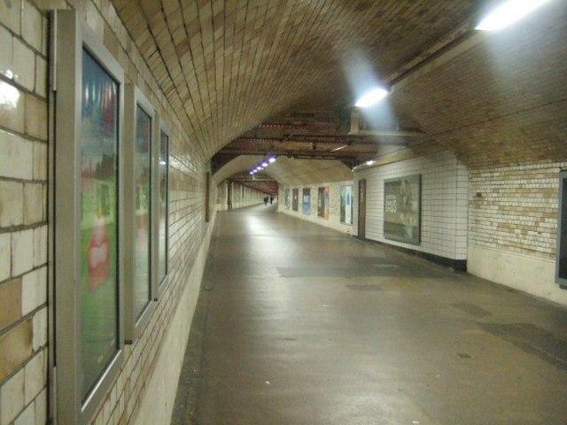 Underground Walkway at South Kensington - geograph.org.uk - 486551