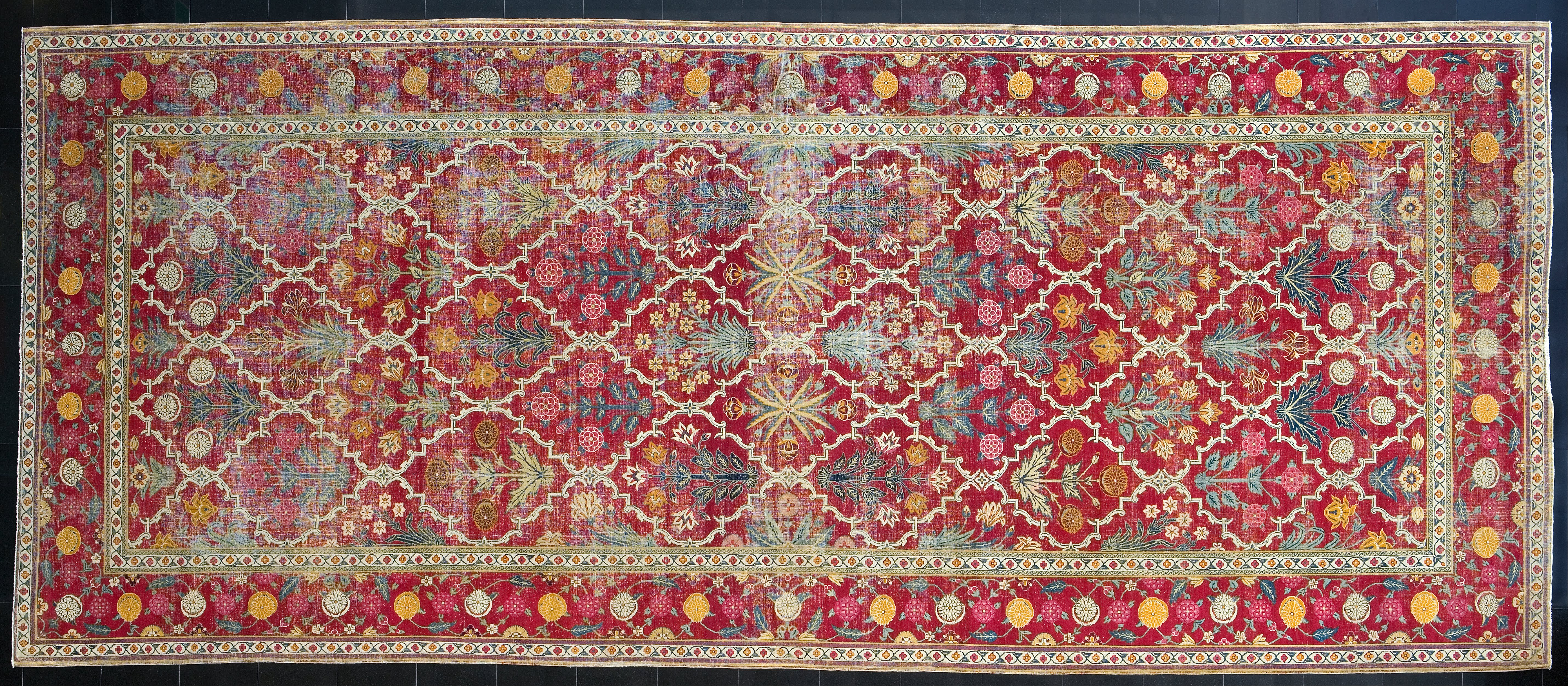 File Unknown Pakistan Wool And Cotton Carpet Google