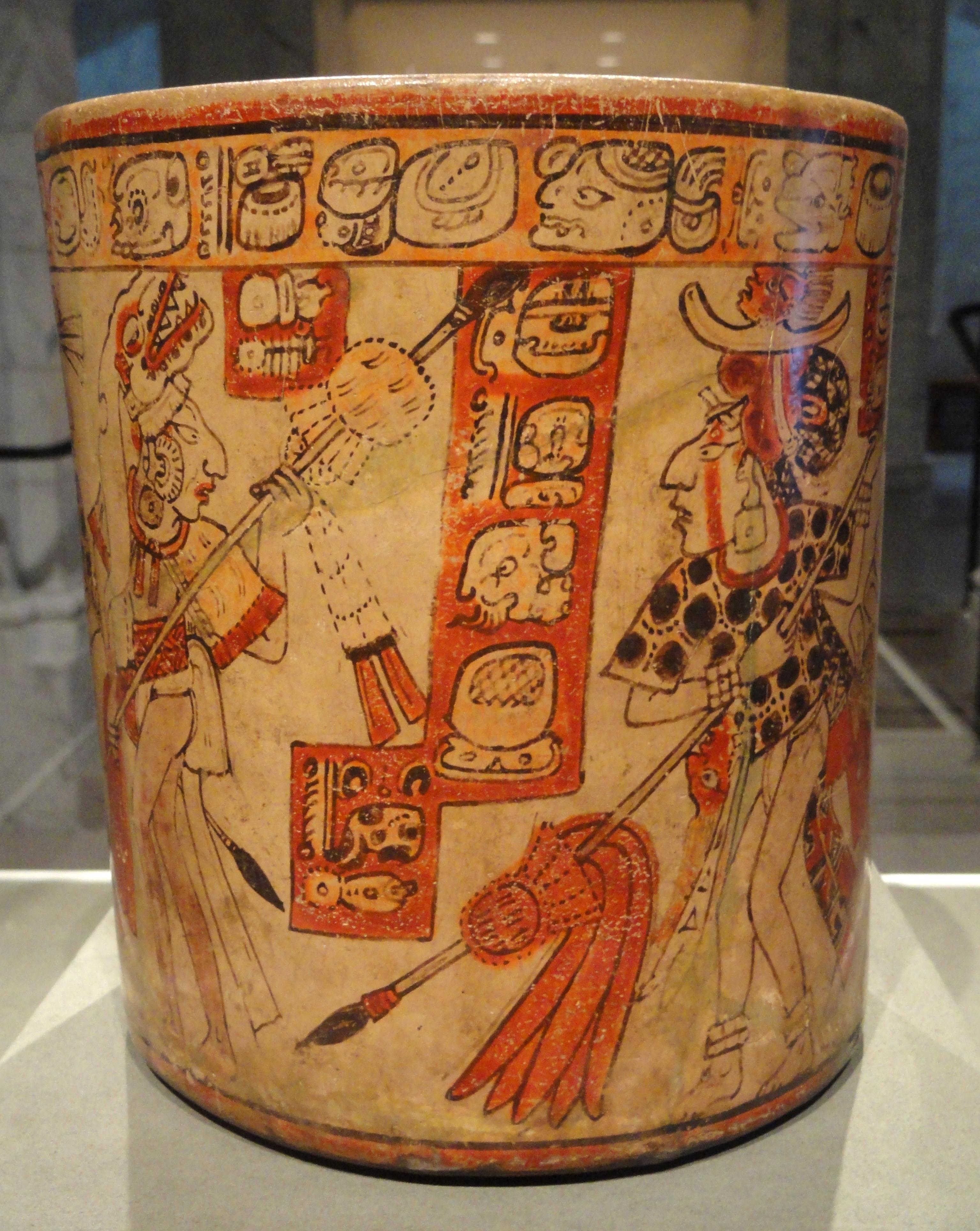 File Vessel With Battle Scene 600 900 Ad Mesoamerica