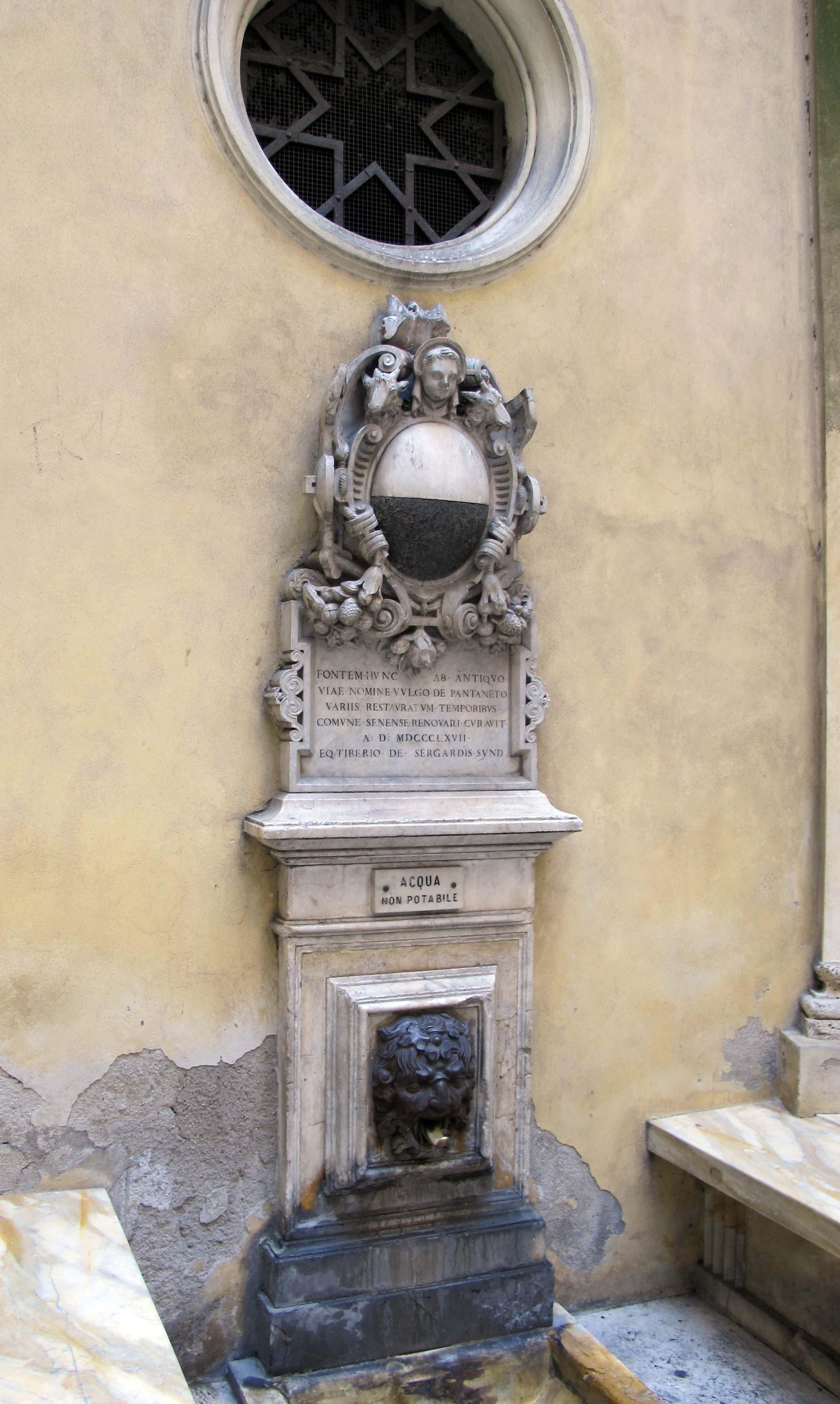 Filevia Di Pantaneto Fontana Del Leocorno 02 Wikimedia Commons Pantane