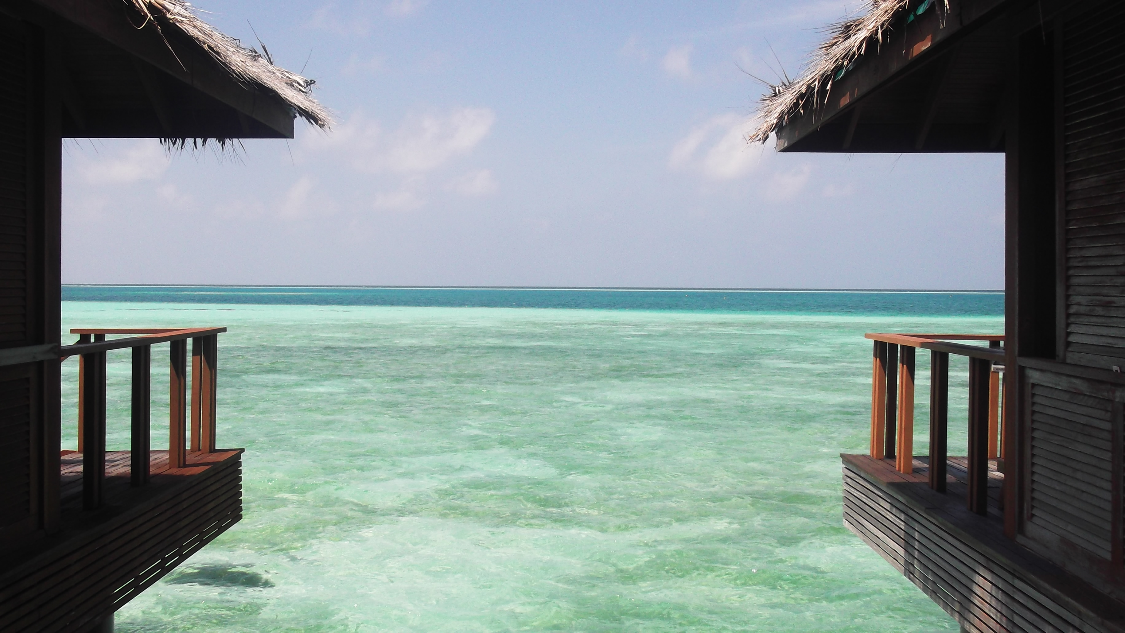 File View From The Water Villas At Medhufushi Island Resort