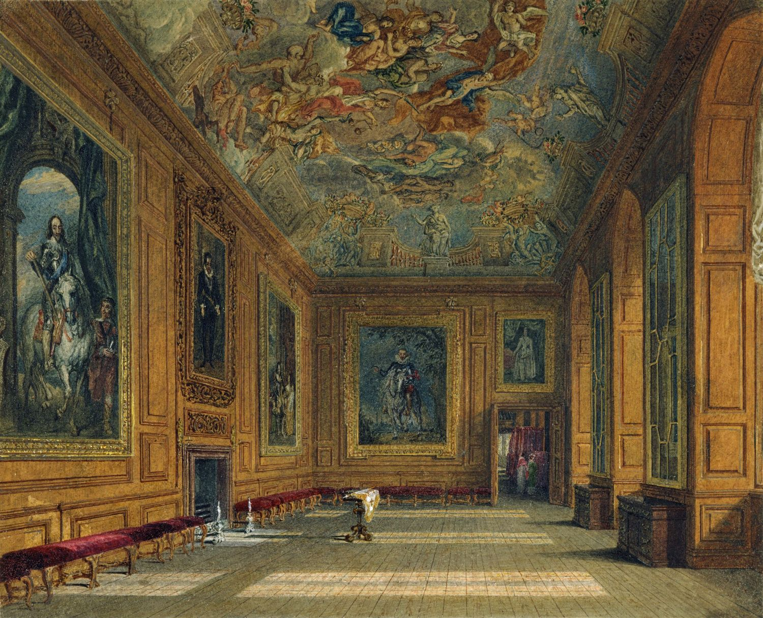 File Windsor Castle Queen S Presence Chamber By Charles