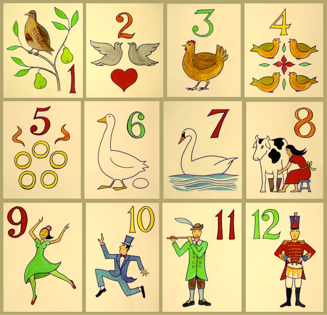 photo about 12 Days of Christmas Lyrics Printable referred to as The 12 Times of Xmas (tune) - Wikipedia