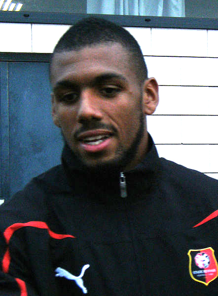 English: Yann M'Vila after a friendly game bet...