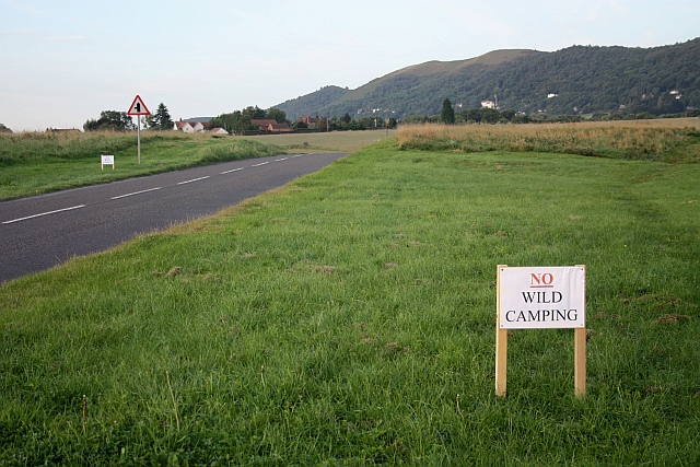 """No Wild Camping"" signs on Malvern Common - geograph.org.uk - 1482410"