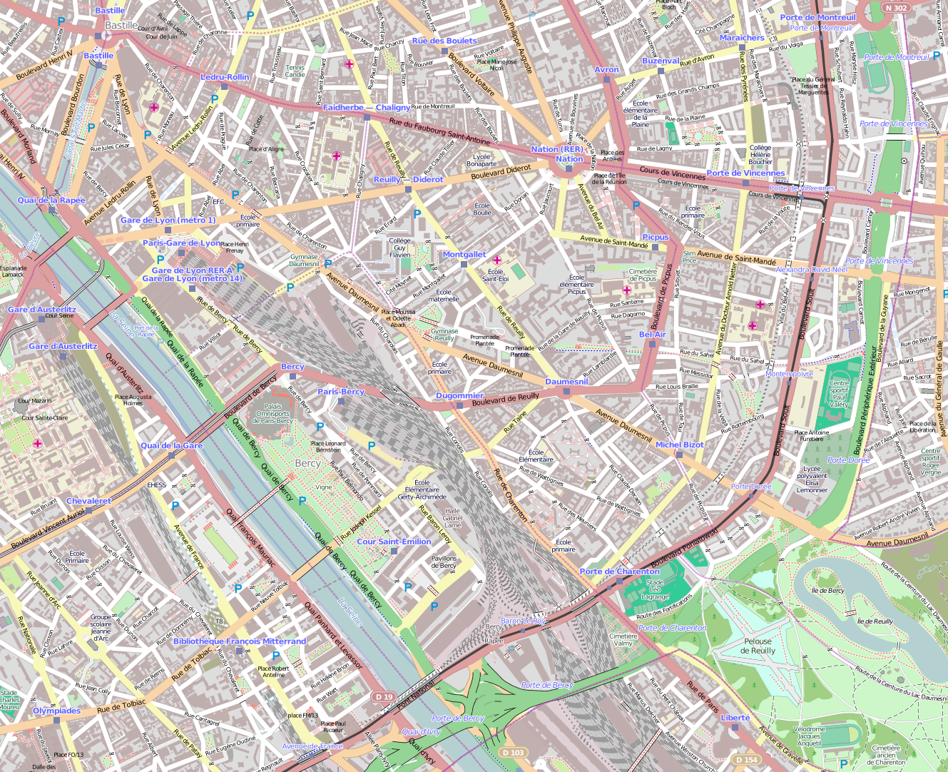 File 12e Arrondissement Paris France Open Street Map