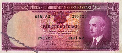1 Turk Lirası on