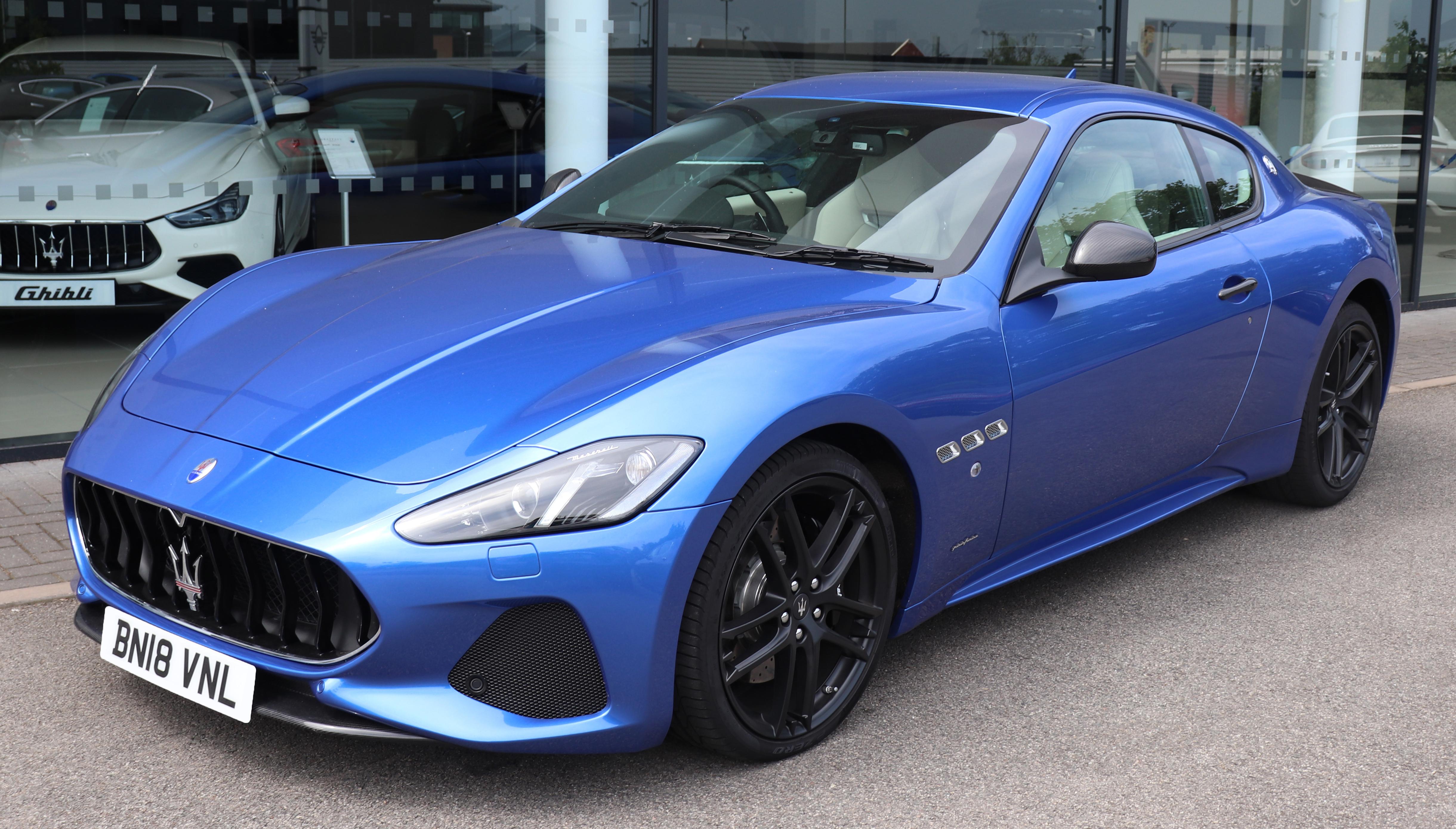 File 2018 Maserati Granturismo Sport Automatic 4 7 Front Jpg