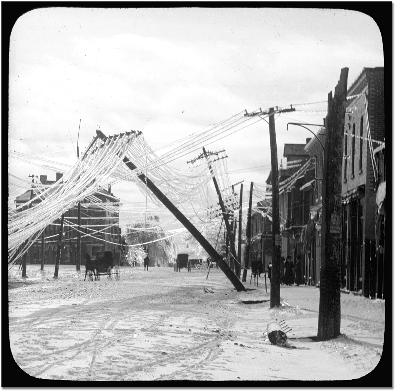 File A Street In Elora Ontario After An Ice Storm Early