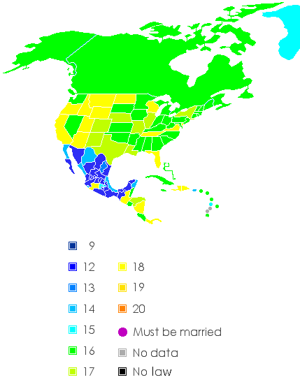 Legal age of dating in usa