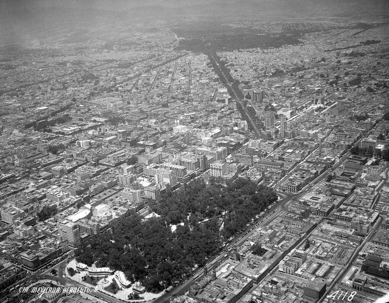 Alameda Central 20th century. Mexico City