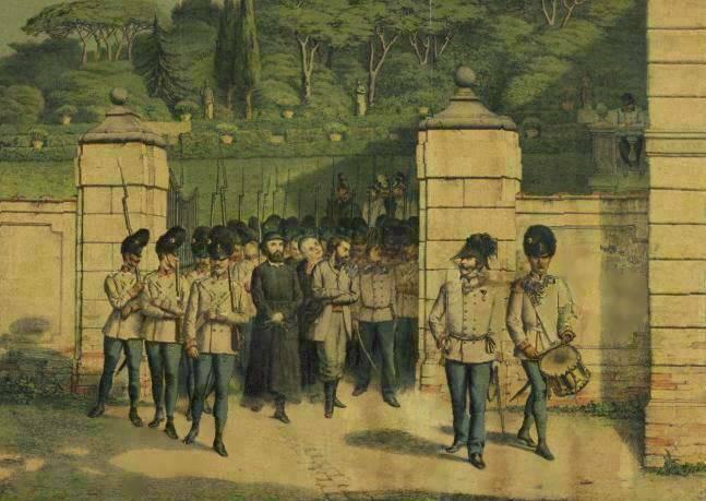 File:Anonimo - Ugo Bassi condotto al patibolo - litografia - da. 1860.jpg