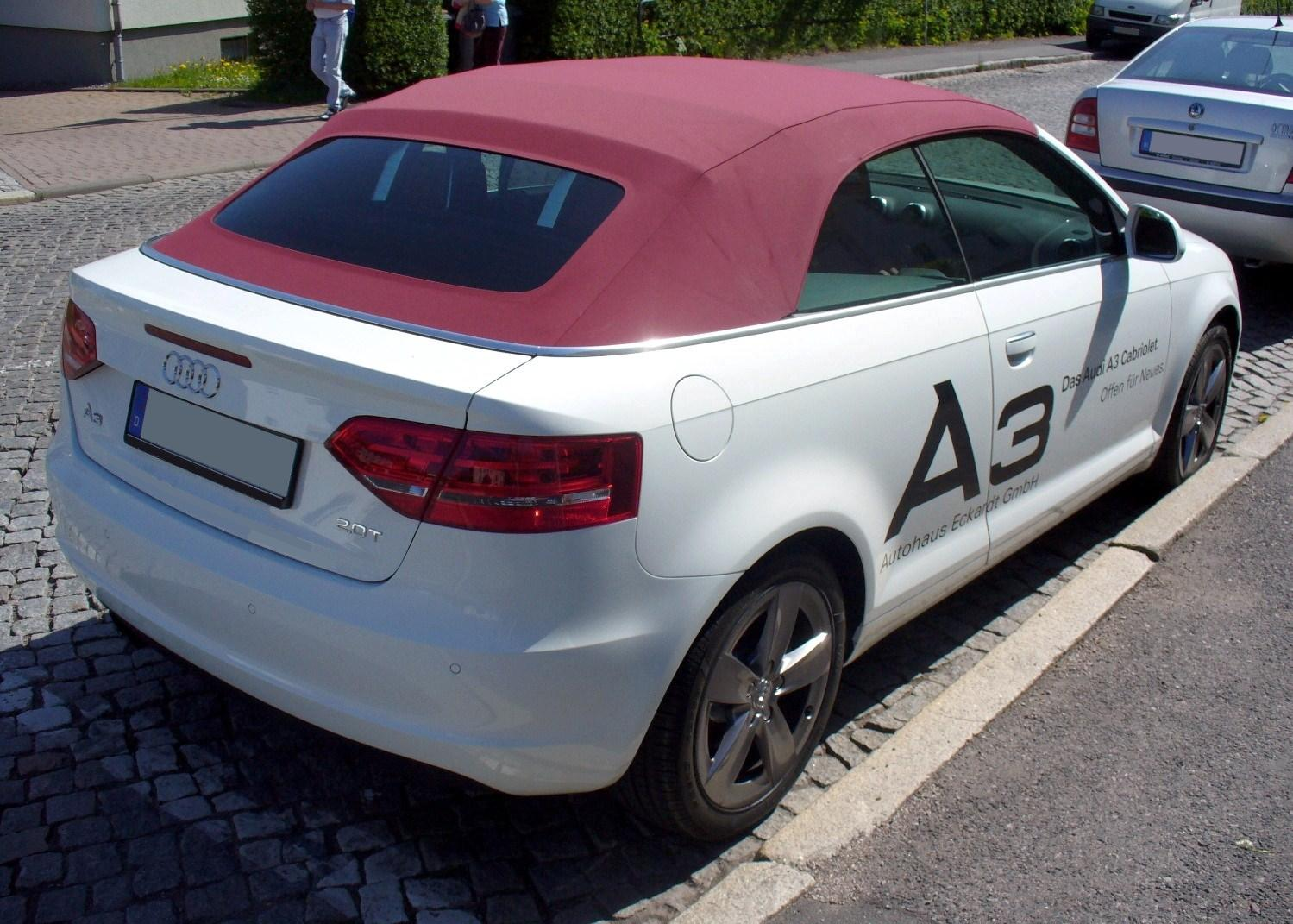 File Audi A3 Cabriolet 2 0t Heck Jpg Wikimedia Commons
