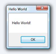Hello World Messagebox from AutoIT.