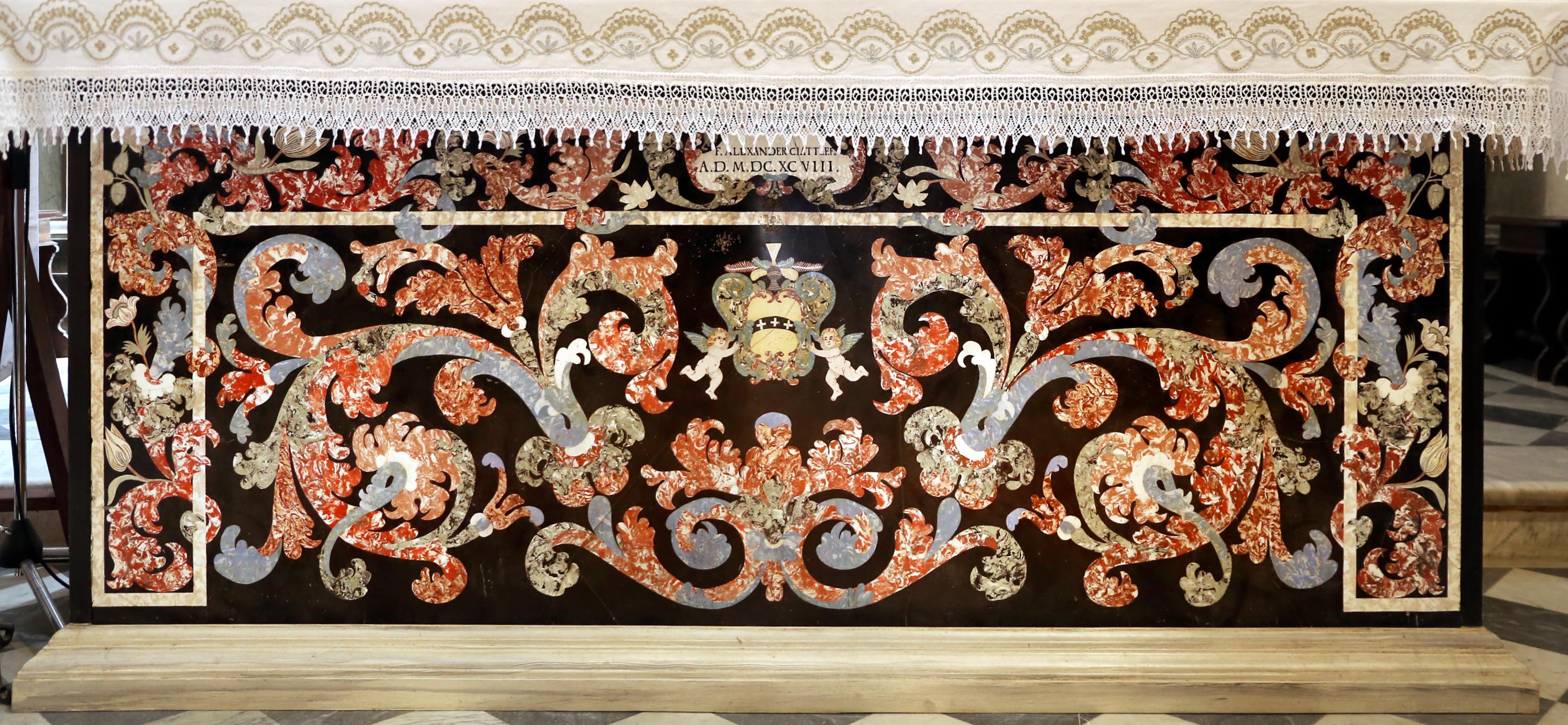 Filebadia Di Passignano Altare Maggiore In Scagliola O