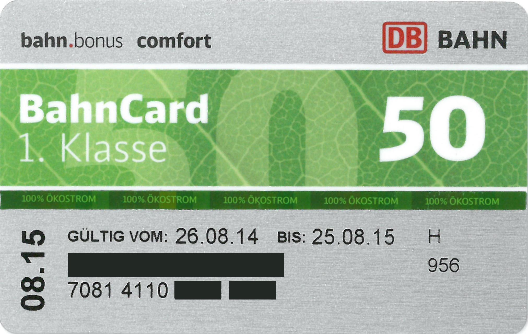 bahncard 50 2 klasse