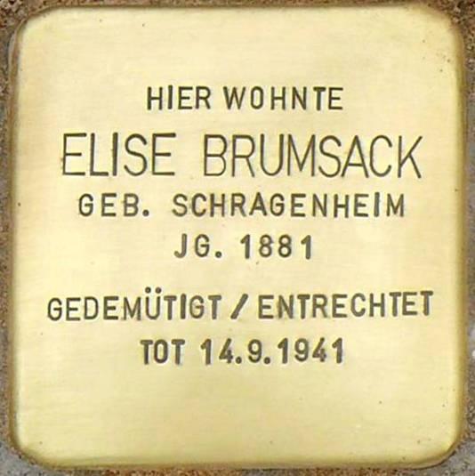 Stolperstein Poststraße 16 Brumsack Elise