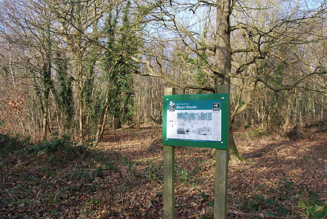 Blean Woods Information Sign, West Blean Woods - geograph.org.uk - 1143196