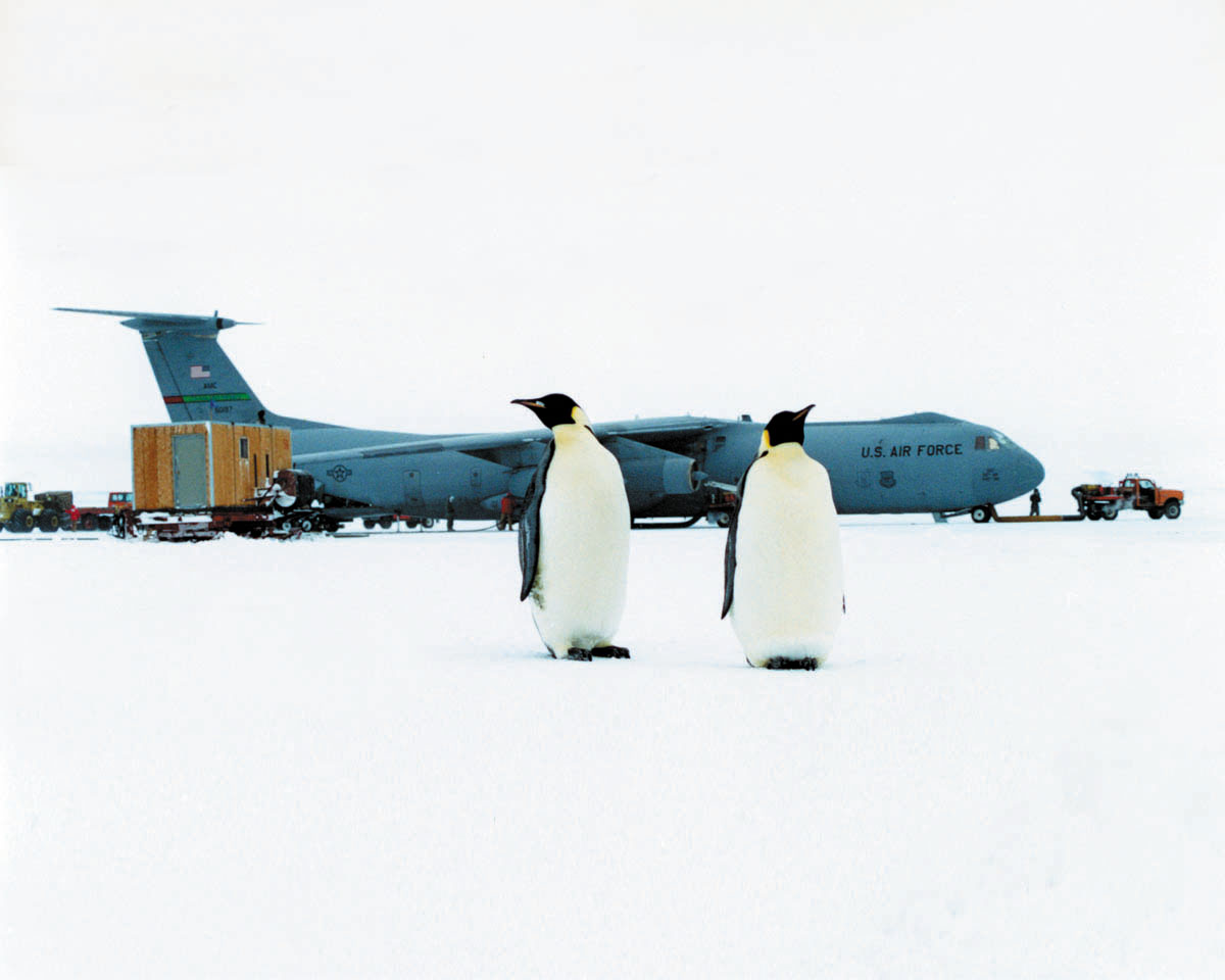 A USAF C-141 Starlifter participating in Operation Deep Freeze.