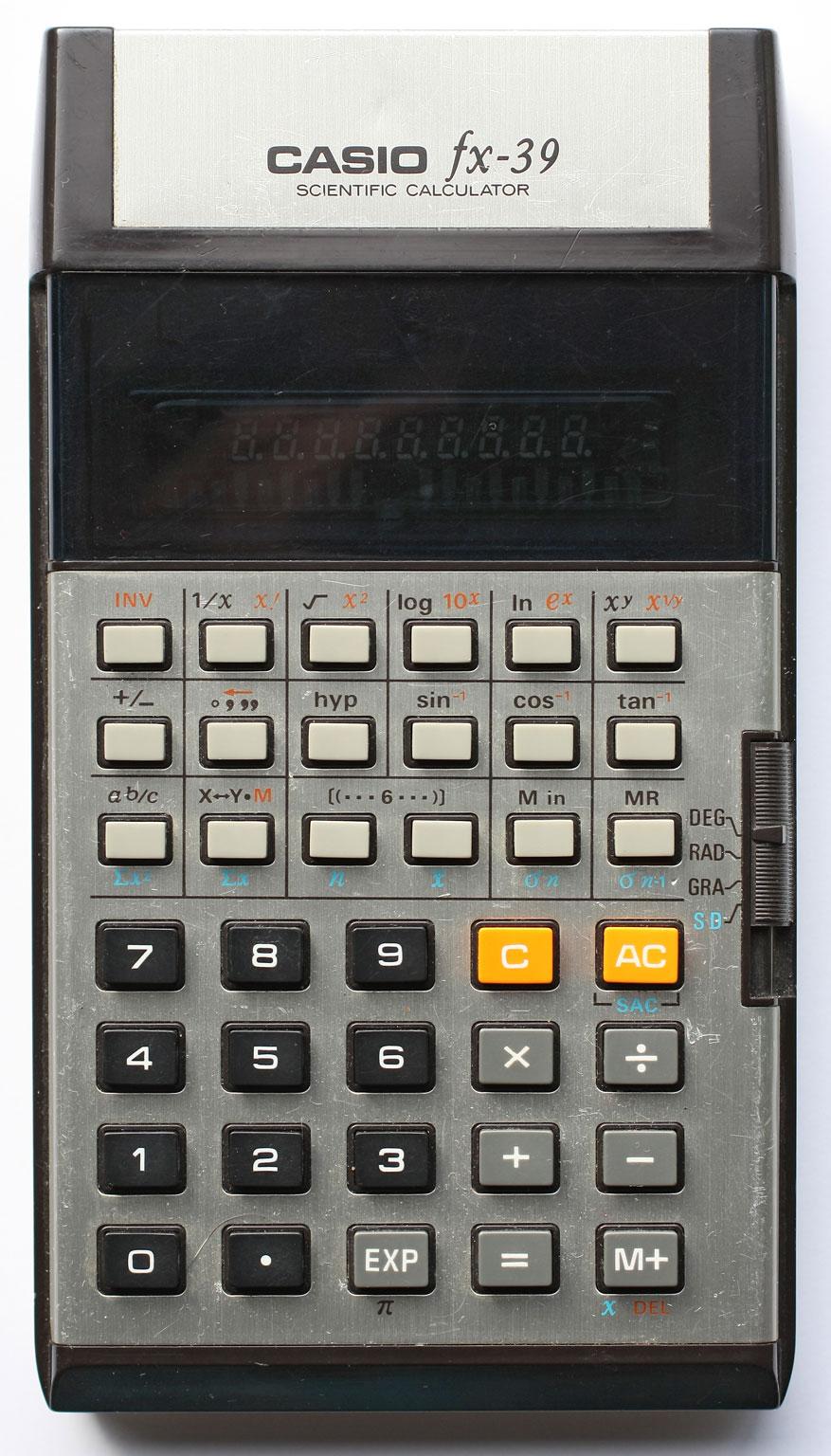 Casio Fx 39 Wikipedia Calculator