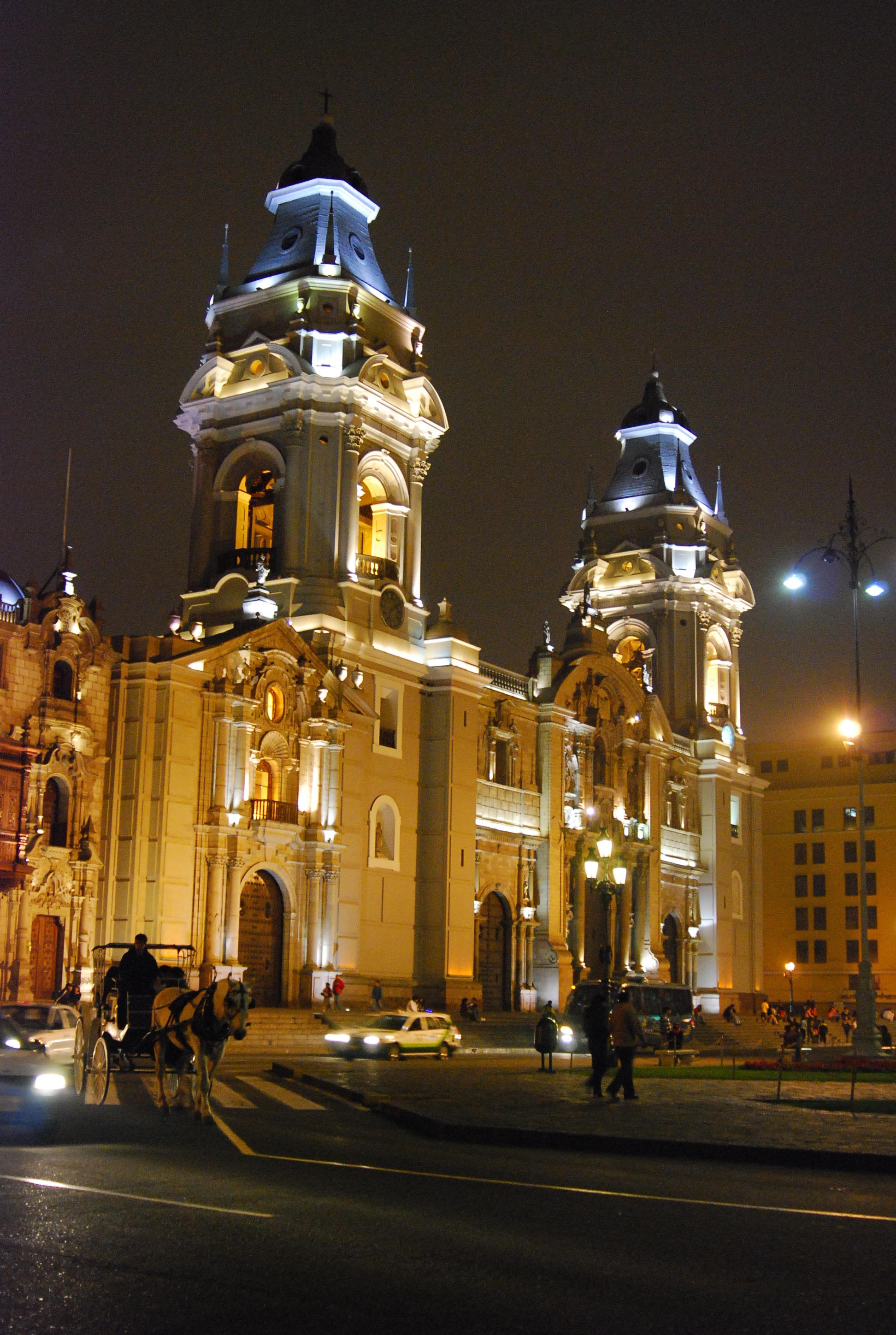 The Renaissance Cathedral of Lima is a legacy of the Spanish settlement in that city.