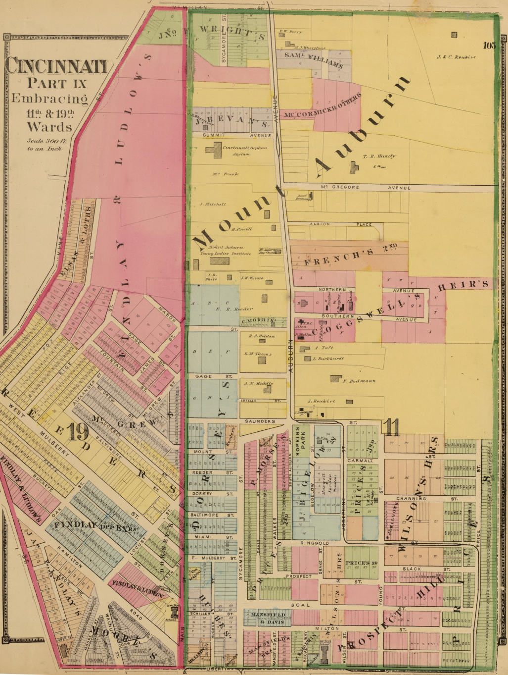 Mount Auburn Historic District - Wikipedia on map of university of louisiana lafayette campus, map of cinn ohio, uc campus map ohio, map off cinn oh, map showing ohio counties,