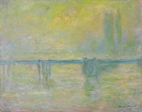 クラウド・モネ, Charing Cross Bridge, brouillard, 1902. Photo from wikipedia