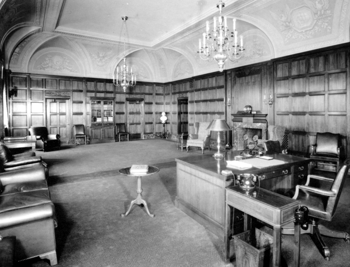 The Commerce Secretary's office as it looked in the mid-20th century.