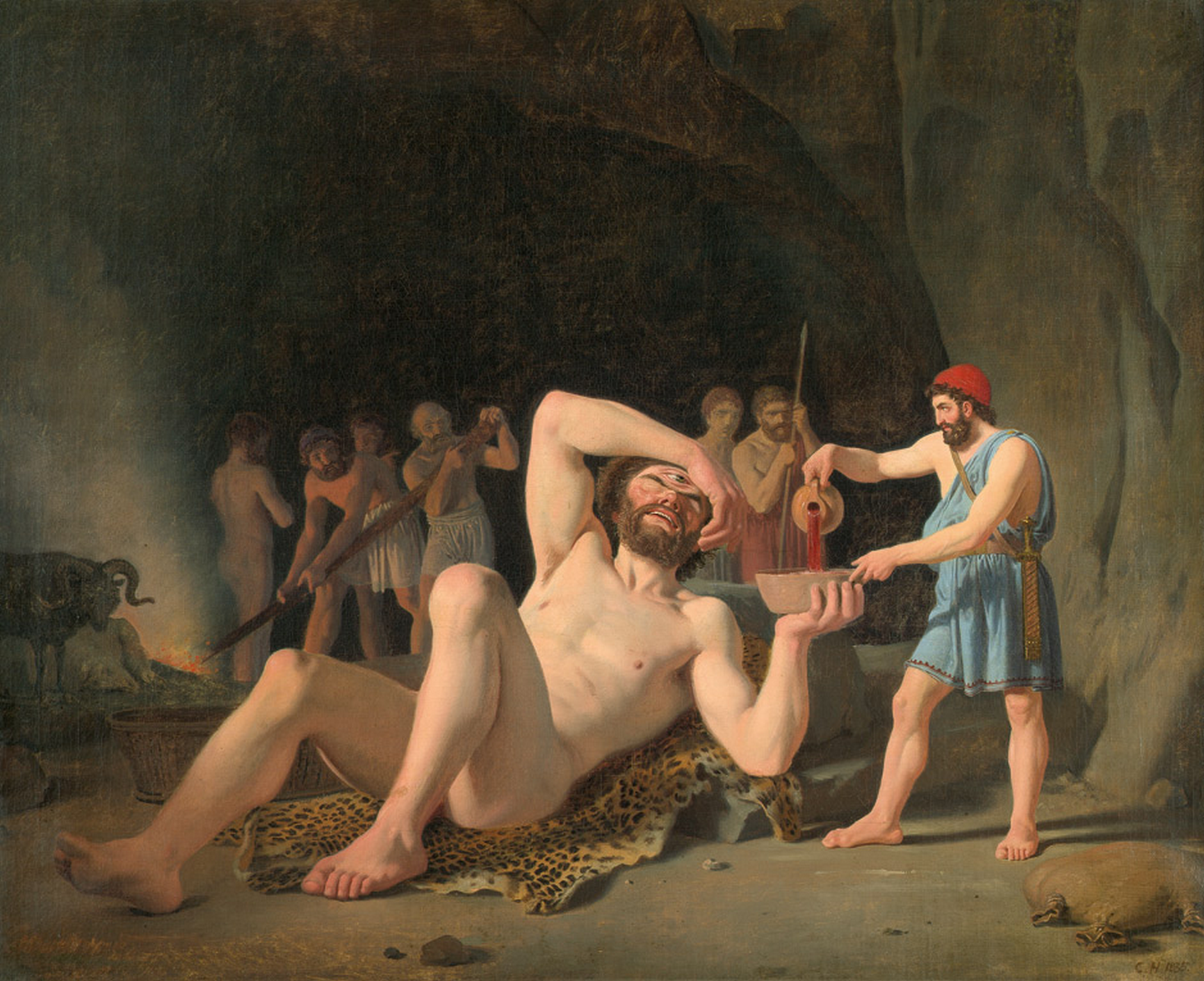 Constantin Hansen: Odysseus und der Kyklop Polyphem