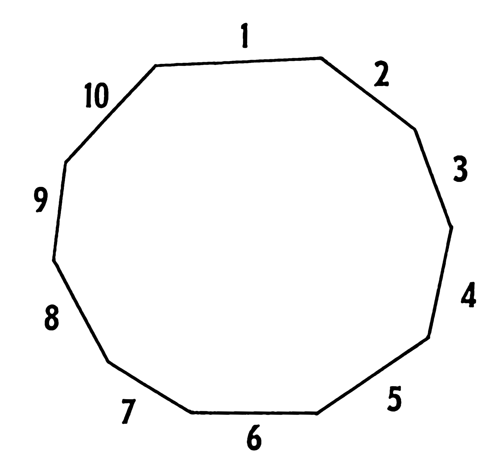 What is a nonagon shape look like